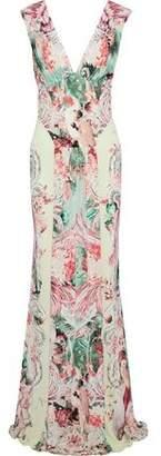 Roberto Cavalli Printed Stretch-Jersey Gown