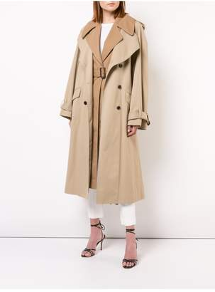 ADAM by Adam Lippes Cotton Trench Coat With Vest And Removable Fringe