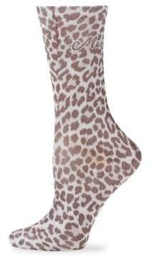 Kate Spade Classic Leopard Crew Socks