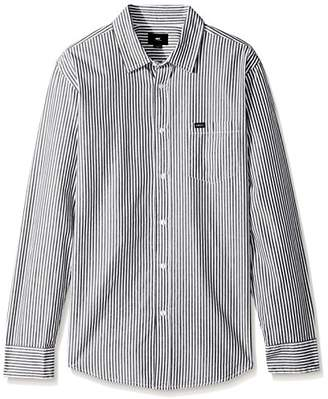 Obey Men's Adario Slim Fit Woven Long Sleeve