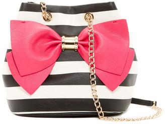 Betsey Johnson Hopeless Romantic Bucket Bag $98 thestylecure.com