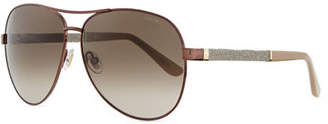 Jimmy Choo Lexi Aviator Sunglasses with Crystal Temples