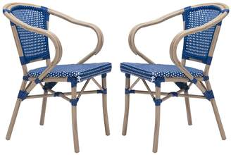 ZUO Modern Paris Patio Arm Dining Chair 2-piece Set