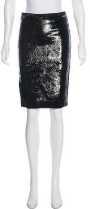 Tom Ford Textured Leather Knee-Length Skirt