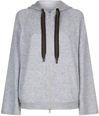 Brunello Cucinelli Wide Sleeve Cashmere Hoodie