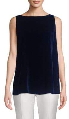 Lafayette 148 New York Toni Velvet Sleeveless Blouse