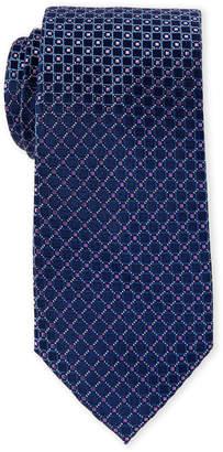 MICHAEL Michael Kors Purple Nigel Contrast Pattern Silk Tie
