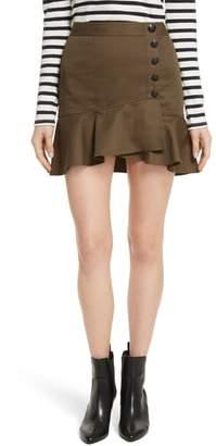 Veronica Beard Claremont Flounce Skirt