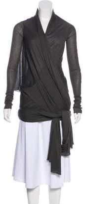Haider Ackermann Aymmetical Lightweight Cardigan Grey Aymmetical Lightweight Cardigan