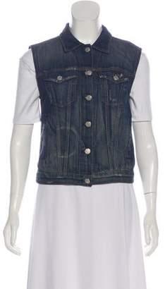 Rag & Bone Denim Button-Up Vest