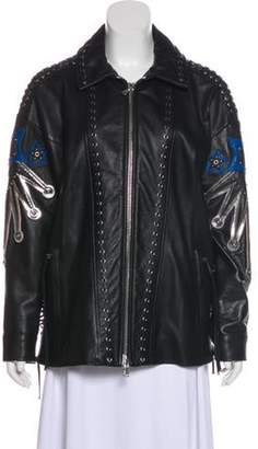 Diesel Black Gold Zip-Up Leather Jacket Black Zip-Up Leather Jacket