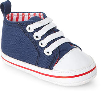 Baby Essentials Rising Star (Infant Boys) Navy Canvas High-Top Sneakers