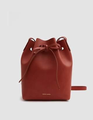 Mansur Gavriel Mini Bucket Bag in Brandy/Avion