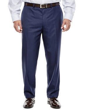 COLLECTION Collection by Michael Strahan Striped Navy Suit Pants - Big & Tall