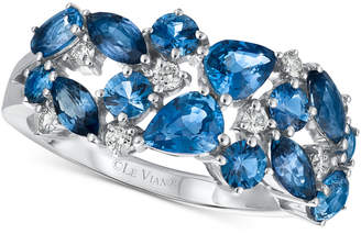 LeVian Le Vian Precious Collection Sapphire (2-1/5 ct. t.w.) and Diamond (1/7 ct. t.w.) Ring in 14k White Gold