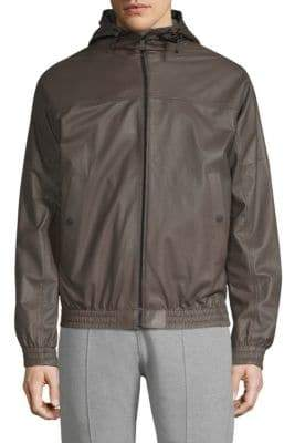 Bally Reversible Hooded Leather Jacket