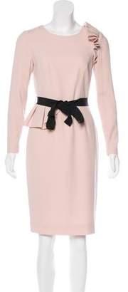 Paule Ka Ruffled Knee-Length Dress