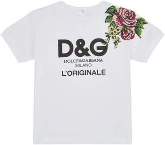 Dolce & Gabbana Embroidered Logo T-Shirt (3 Months - 30 Months)