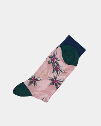 Ted Baker LEAVIT Flower and leaf Pantherella socks