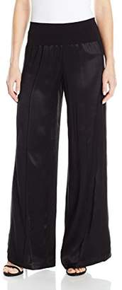 ATM Anthony Thomas Melillo Women's Wide Leg Yoga Pant with Side Panel