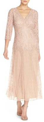 Petite Women's Pisarro Nights Beaded Mesh Dress $189 thestylecure.com