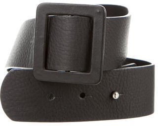 MarniMarni Leather Buckle-Accented Belt