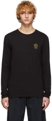 Versace Underwear Black Medusa Long Sleeve T-Shirt