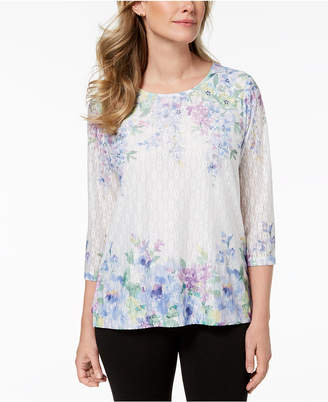 Alfred Dunner Daydreamer Lace Top