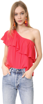 WAYF Conway Ruffle Top $69 thestylecure.com