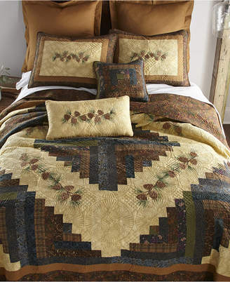 American Heritage Textiles Cabin Raising Pine Cone Cotton Quilt Collection, Twin Bedding