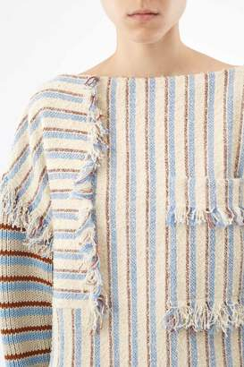 3.1 Phillip Lim Fringed Patchwork Pullover