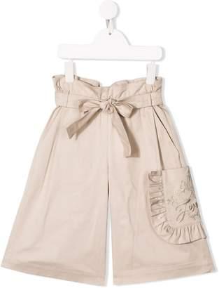 Fendi side patch belted shorts