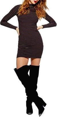 Topshop Stripe Knit Dress