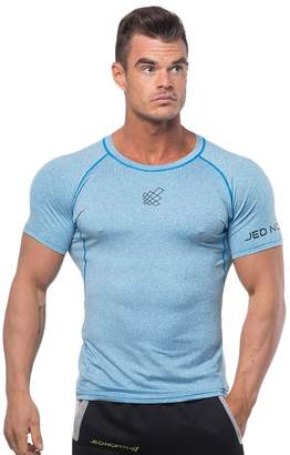16c3a3020487a Jed North Men s Bodybuilding Workout Short Sleeve Tee Slim Fit T Shirt for  Gym