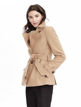 Melton Wool Short Trench $228 thestylecure.com