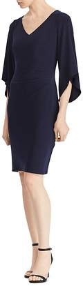 Lauren Ralph Lauren Flutter-Sleeve V-Neck Dress