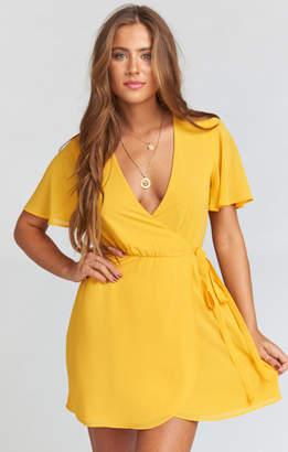 MUMU Andrea Wrap Dress ~ Marigold Chiffon