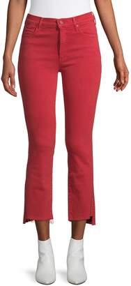 Mother The Insider Crop Step Fray Hem Jeans