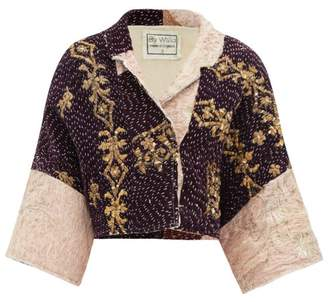 By Walid Lamia 19th Century Victorian Silk Cropped Jacket - Womens - Cream Multi
