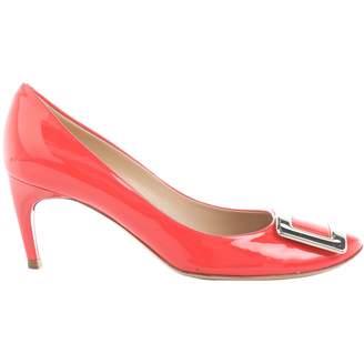 Roger Vivier Orange Patent leather Heels