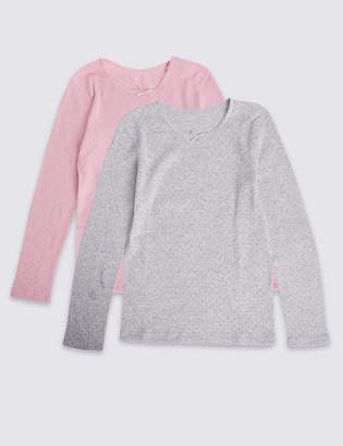 Marks and Spencer 2 Pack Thermal Vests (18 Months - 16 Years)