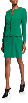 Albert Nipon Two-Piece Stretch Crepe Seam Detail Jacket & Sheath Dress Set