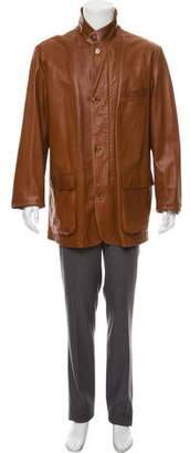 Loro Piana Leather Zip-Up Jacket