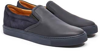 Harry's of London Ethan Jones Tech Leather & Kudu Suede Navy Trainer