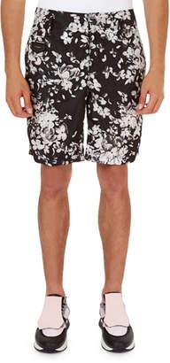 Givenchy Hydrangea-Print Nylon Bermuda Shorts