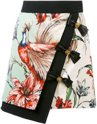 Fausto Puglisi bird print wrap skirt
