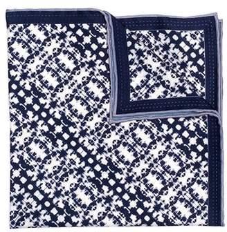 hook + ALBERT Batik Patterned Silk Pocket Square