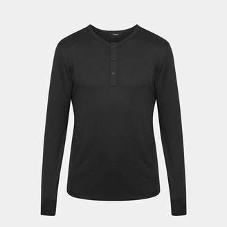 Theory Long-Sleeve Snap Henley
