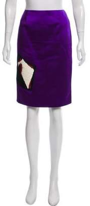 Christian Lacroix Embellished Knee-Length Skirt