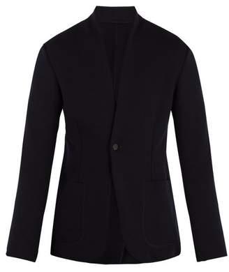 Kilgour Single Breasted Wool Blend Blazer - Mens - Navy
